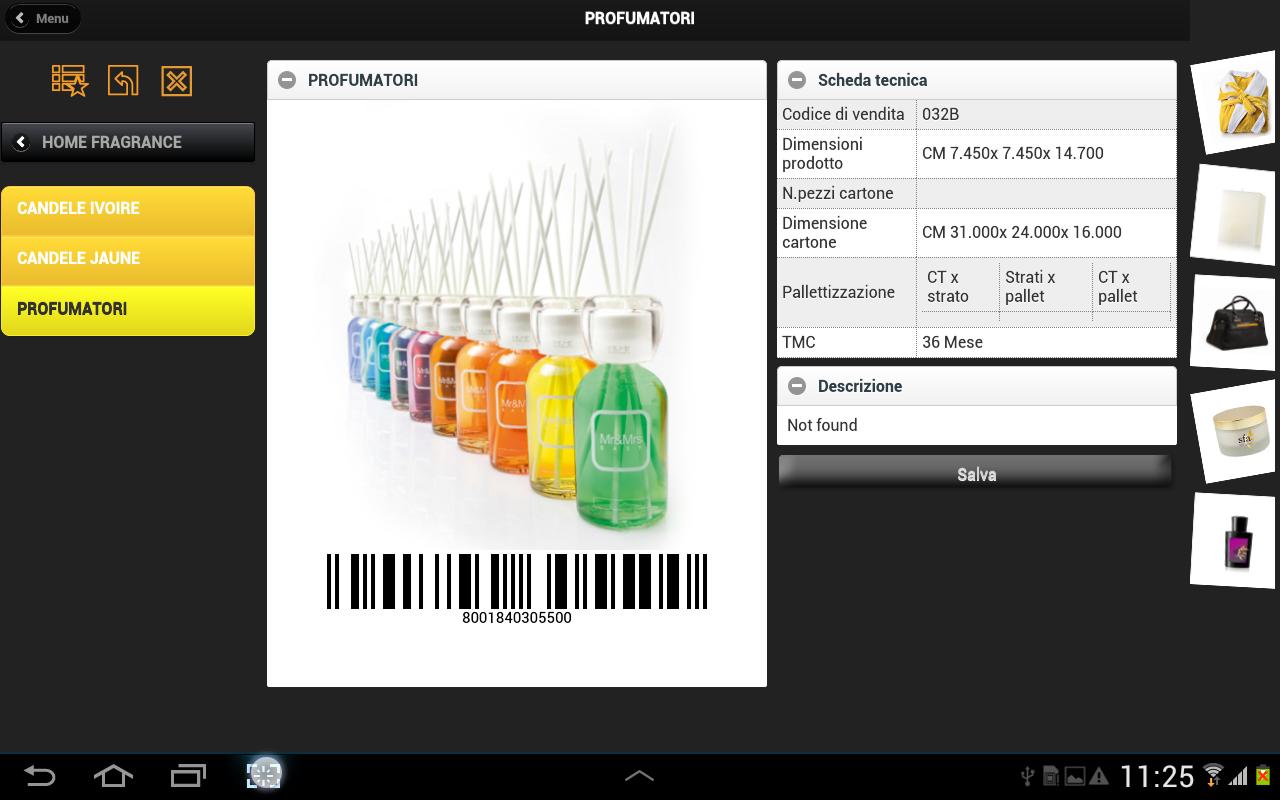 app - caatalogo tablet